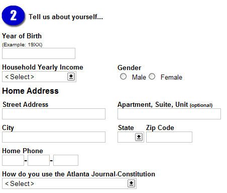 [Screenshot of AJC registration form]