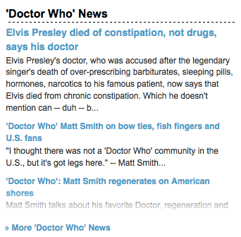 "Screenshot from Zap2it's ""Doctor Who"" show page."